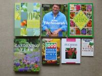 EIGHT GARDENING BOOKS COVERING INDOOR AND OUTDOOR PLANTS AND FLOWERS - INCLUDING ALAN TITCHMARSH