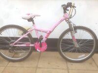 "Pink kids girls bike. 24"" Wheels"