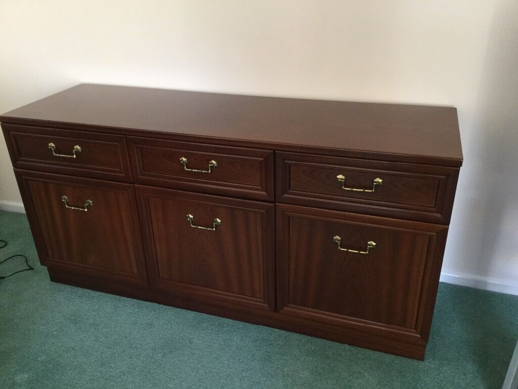 GPlan Garrick Mahogany Sideboard Excellent Condition With 3 Drawers And Cupboards