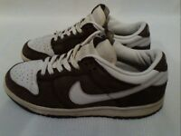 Nike Womens Brown & White Leather Trainers UK Size 7