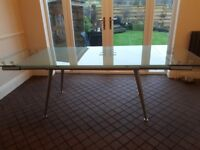 large CALLIGARIS glass dining table