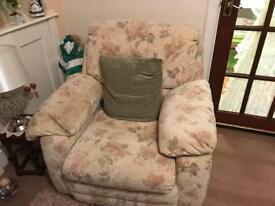 3 piece suite + footstool