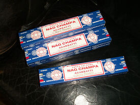 6 x 15g boxes (each containing 12 incense sticks) Satya Nag Champna incense sticks