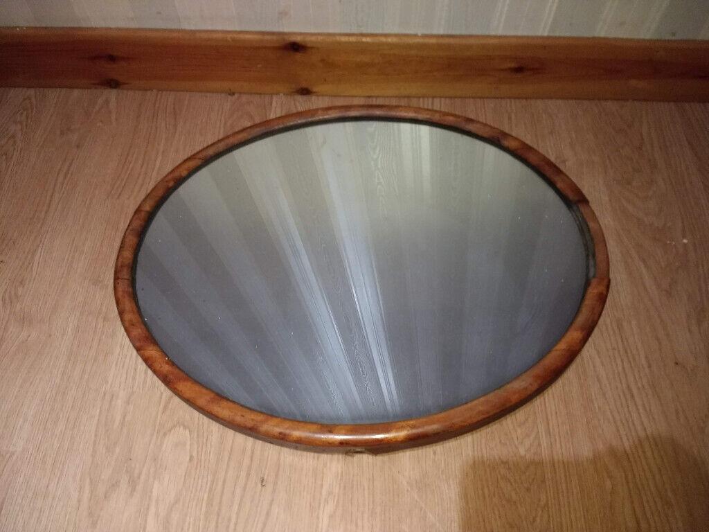 Antique Mirror Walnut Frame Solid Wood In Inverness Highland