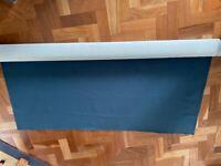 Velvet teal fabric roll - minimum 3m