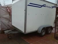 10ft twin axle box trailer with roller shutter door