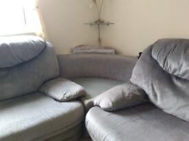Large comfy velvet corner sofa