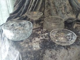 Beautiful collection of crystal bowls