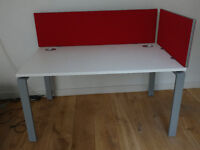 6 x Quality white desks - Available individually or as a set