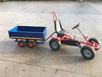 Pedal go kart and trailer for sale ideal as Santa Christmas present good condition