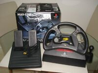 MAD CATZ PLAYSTATION STEARING WHEEL and FOOTPEDAL controller.