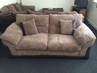 3 seater Chord sofa - scotch guarded