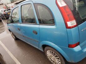Vauxhall meriva 1.6 53 plate
