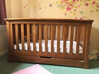 Mamas and Papas 3 piece nursery set - cot bed, draws with change table and wardrobe