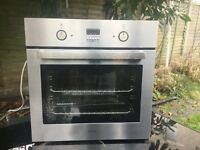 Diplomat ABA3350 Integrated Under Counter Oven, Brushed Steel