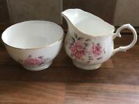 Vintage milk jug & sugar bowl