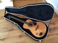 Brunswick acoustic guitar and hard case