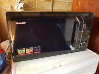 Sharp R764KM 25-Litre 900/1000-Watt Quartz Grill Microwave - Black Very good condition