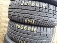 Part worn tyres / winter tyres / 205-60-16 x 2 / vairaty of sizes available barking