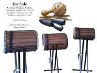 Kambala Dunduns & Sticks, Bells & Beaters, Stands & Covers and a Shekere
