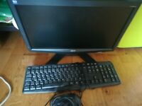 Monitor& keyboard and mouse