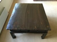 Chinese elm wood lacquered table