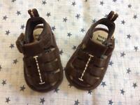 Next boys sandals size 0-3 months