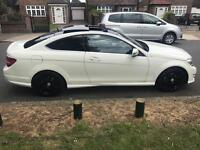 AMAZING 2012 C Class C250 Coupe White Panramic sunroof Private plate