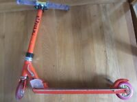 JD Bug Original Street scooter Folding was a limited edition in orange childs kids
