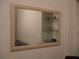 Large Maple effect Framed Mirror
