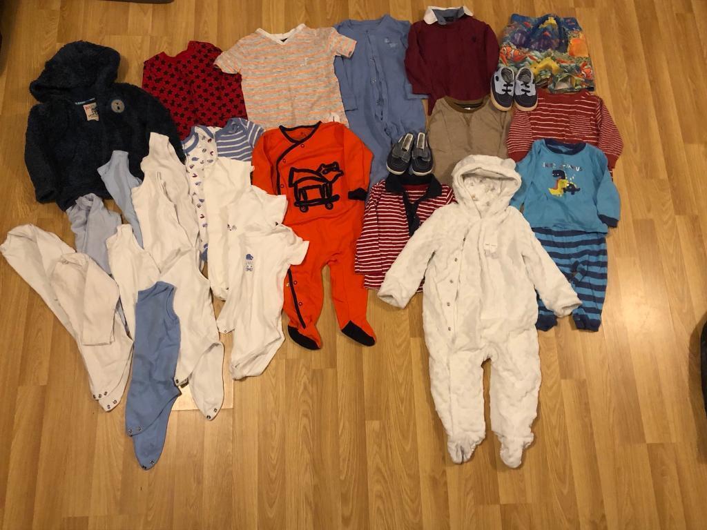 202552857 9-12 months baby boy clothes bundle