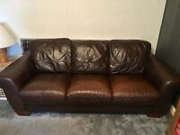 Couch sofa setee brown leather