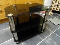 Smoked Glass TV Table