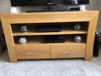 Modern Solid oak TV unit