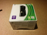 Xbox 360, 250GB , boxed with original accessories