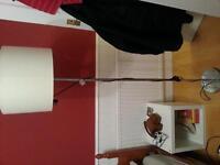 STANDARD LAMP CHROME /CREAM