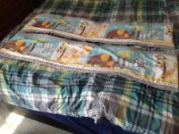 Breathable Cot bumpers for a solid end cot-