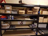 RETAIL WAREHOUSE STORAGE SHELVING RACKING SLAT WALL PALLET TRUCKS EBAY BOXES ACCESSORIES