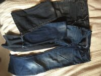 Two pairs of second hand jeans