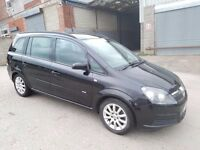 2006 VAUXHALL ZAFIRA 1.6 CLUB I 5 DOOR HATCHBACK BLACK 7 SEATER 12 MONTHS M.O.T