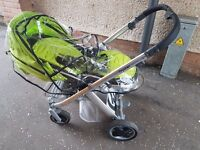 Oyster Lime Green Pram - Used