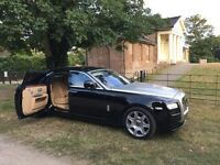 Rolls Royce Ghost Hire with a chauffeur **WEDDING HIRE**