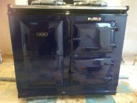 Aga electric cooker model c, colour blue from 1989