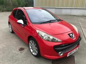 Stunning 2007 07 Peugeot 207 1.6Turbo Gti 175 **Only 48k+History+Leather/Suede Wingbacks**