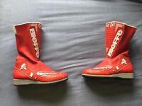 BIEFFE Red Motorbike Boots Size 6