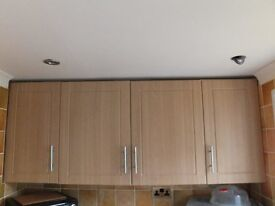BEECH EFFECT KITCHEN UNIT DOORS B&Q CHILTON EX CONDITION STILL CURRENT VARIOUS SIZES From £8.00