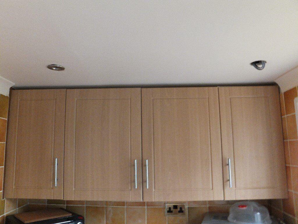 Beech effect kitchen unit doors b q chilton ex condition for Beech effect kitchen units
