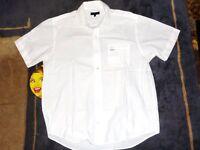 Designer Clothes - Kickers White Striped Half Sleeve Shirt Size: L