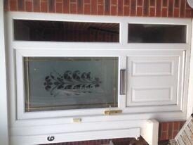 UPVC Front Door with side flag