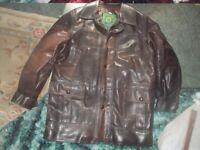 LEATHER JACKET / COAT ** SIZE L ** MADE IN ITALY * DARK BROWN* VGC** CLACTON SEA - CO15 6AJ